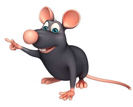 whisker characters: 3d rendered illustration of Rat cartoon character