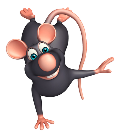 3d rendered illustration of funny  Rat cartoon character