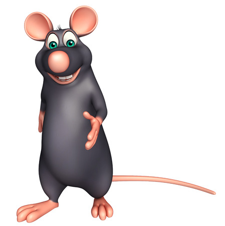whisker characters: 3d rendered illustration of walking  Rat cartoon character Stock Photo