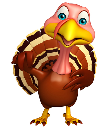 3d rendered illustration of funny Turkey cartoon character
