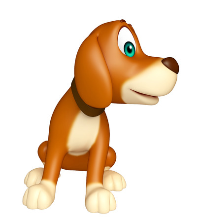 domestic animals: 3d rendered illustration of Dog funny cartoon character