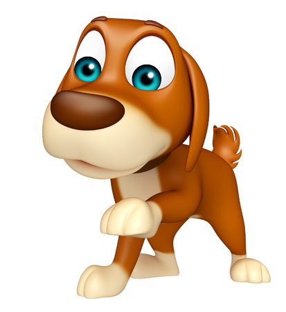 toons: 3d rendered illustration of Dog funny cartoon character