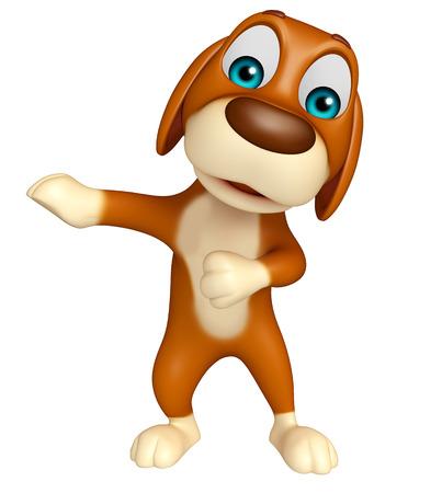 犬の面白い漫画のキャラクターの 3 d レンダリングされたイラストレーション 写真素材