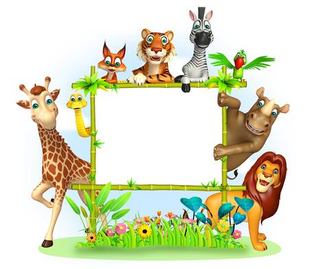 野生動物の 3 d レンダリングされたイラストレーション