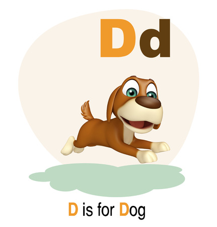 dog sled: 3d rendered illustration of Dog farm animal with alphabate Stock Photo