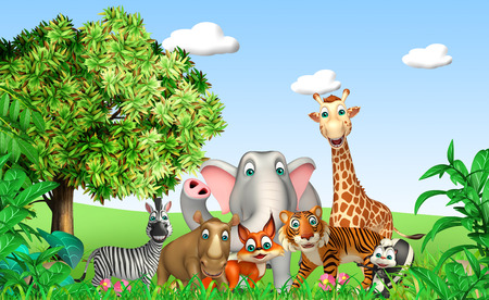 wild animal: 3d rendered illustration of wild animal