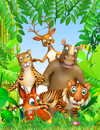 funny animals: 3d rendered illustration of wild animal