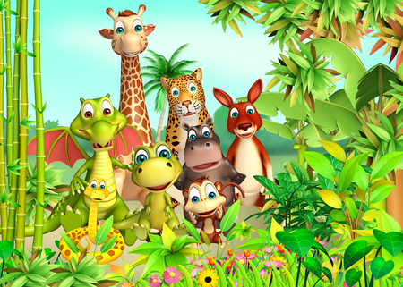 safari animals: 3d rendered illustration of wild animal