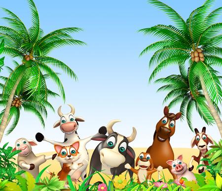3d rendered illustration of farm animal Stock Photo
