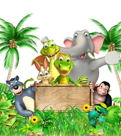 chamelion: 3d rendered illustration of wild animal