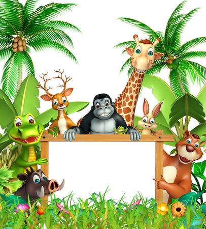 3d rindió la ilustración de animales salvajes Foto de archivo