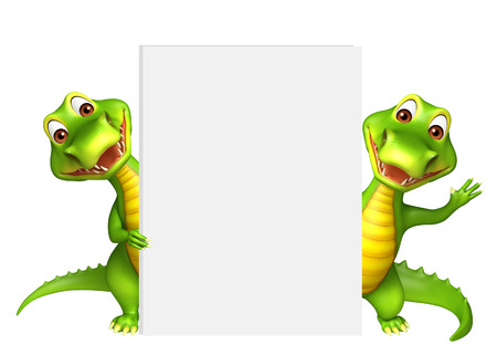 aligator: 3d rendered illustration of Aligator collection with white board