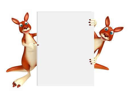 kangaroo white: 3d rendered illustration of Kangaroo collection with white board