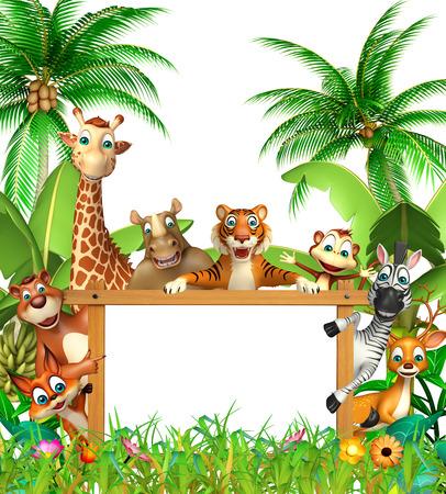 safari animal: 3d rendered illustration of wild animal
