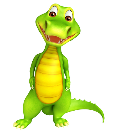 rendered: 3d Rendered alligator cartoon character Stock Photo