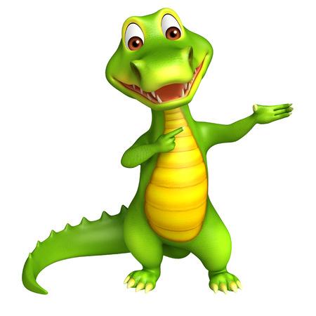 zoo amphibian: 3d Rendered alligator cartoon character Stock Photo