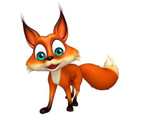 3d rendered illustration of Fox funny cartoon character