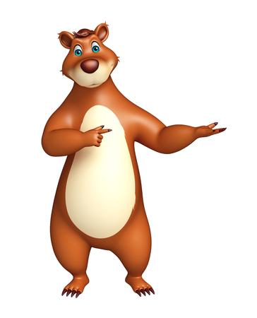 plushy: 3d rendered illustration of funny Bear cartoon character Stock Photo