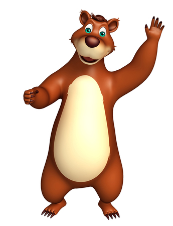 carnivora: 3d rendered illustration of funny Bear cartoon character Stock Photo