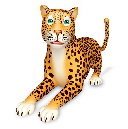 mammalia: 3d rendered illustration of sitting Leopard cartoon character Stock Photo