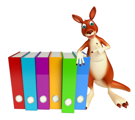 forest management: 3d rendered illustration of Kangaroo cartoon character with files Stock Photo