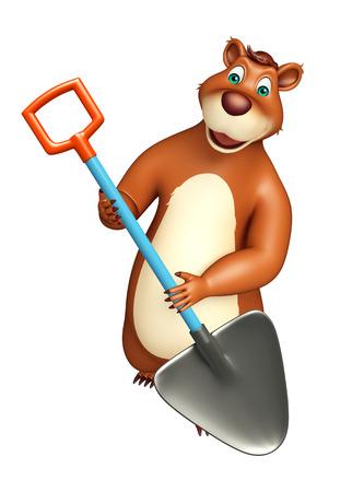 plushy: 3d rendered illustration of Bear cartoon character