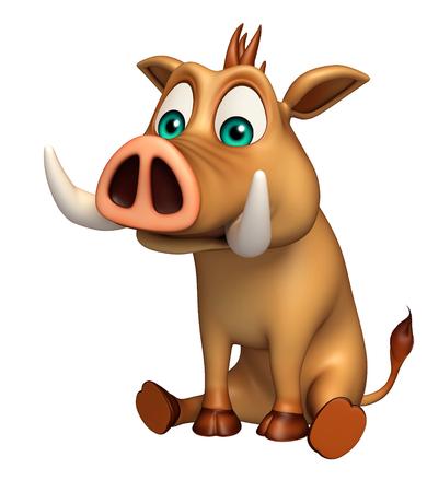 hooves: 3d rendered illustration of Boar funny cartoon character