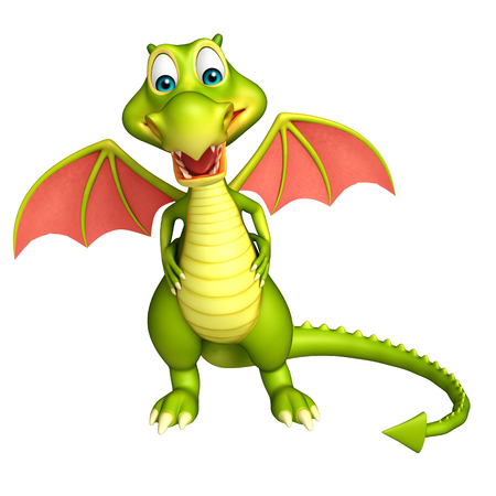 3d dragon: 3d rendered illustration of Dragon funny cartoon character