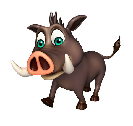 3d rendered illustration of Boar funny cartoon character