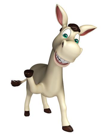 cartoon donkey: 3d rendered illustration of Donkey funny cartoon character Stock Photo