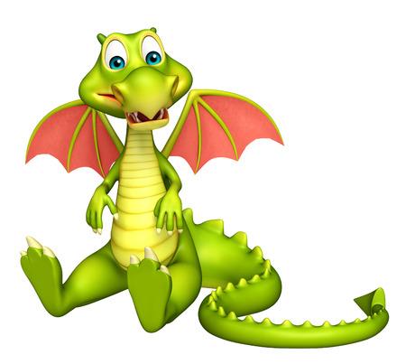 3d dragon: 3d rendered illustration of Dragon cartoon character
