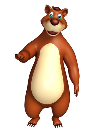 plushy: 3d rendered illustration of funny Bear cartoon character Stock Photo