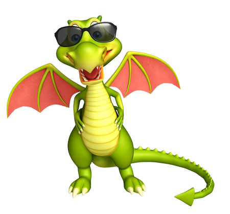 protective eyewear: 3d rendered illustration of Dragon cartoon character