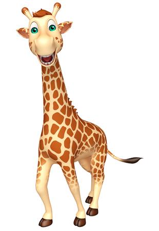 3d rendered illustration of walking Giraffe cartoon character