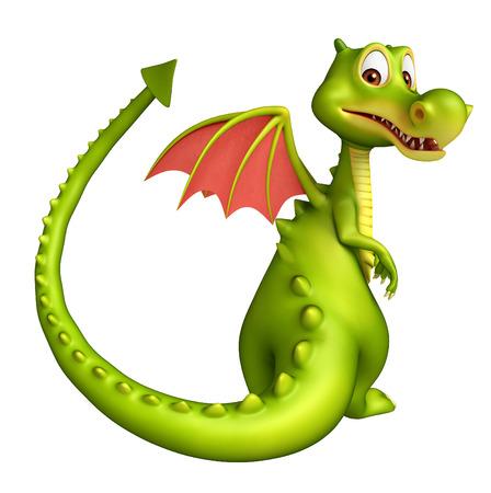 3d rendered illustration of Dragon funny cartoon character Stock Illustration - 53995830