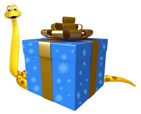3d snake: 3d rendered illustration of Snake cartoon character