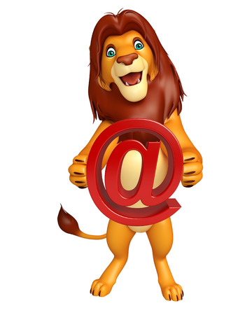 veg: 3d rendered illustration of Lion cartoon character with at the rate