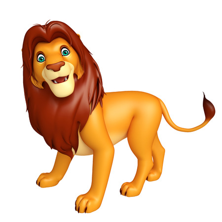 3d lion: 3d rendered illustration of fuuny  Lion cartoon character