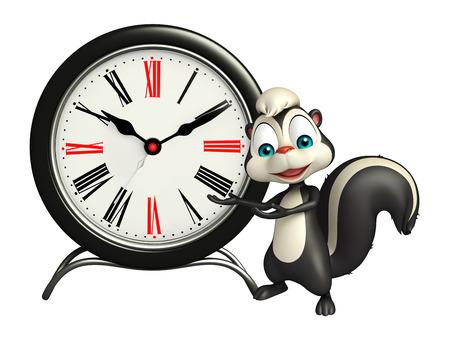 mofeta: 3d rindi� la ilustraci�n de personaje de dibujos animados de la mofeta