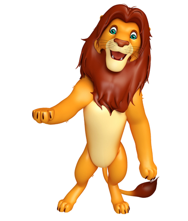 3d lion: 3d rendered illustration of hold Lion cartoon character