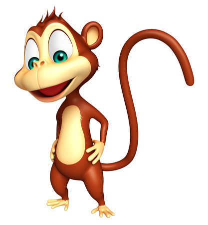 mammalia: 3d rendered illustration of funny Monkey cartoon character