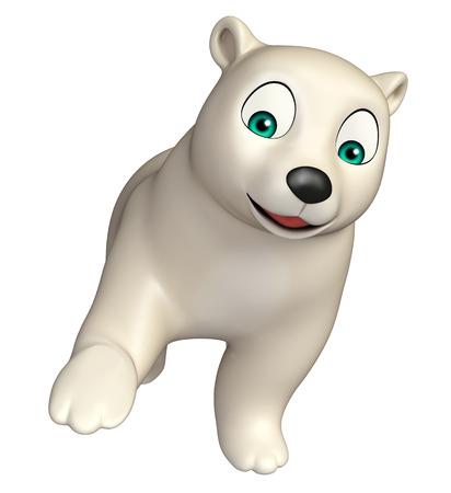 hunny: 3d rendered illustration of hold  Polar bear cartoon character