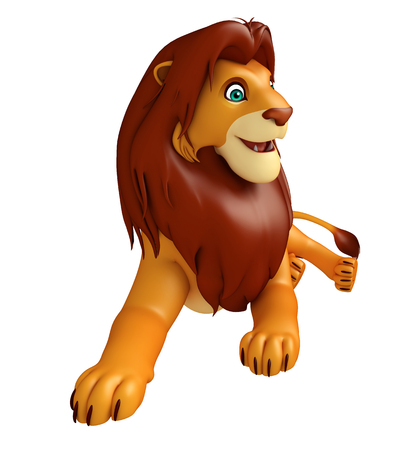 3d lion: 3d rendered illustration of sitting Lion cartoon character