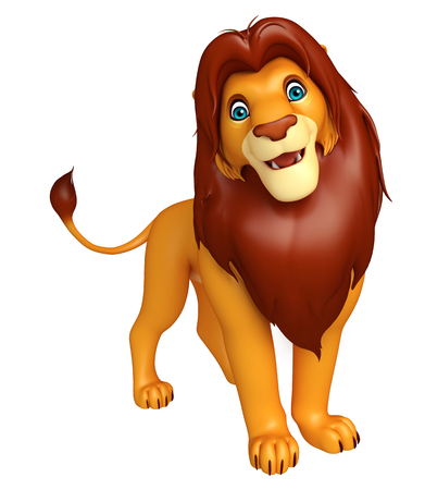 lion cartoon: 3d rendered illustration of fuuny  Lion cartoon character