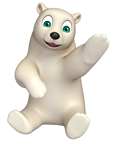hunny: 3d rendered illustration of sitting  Polar bear cartoon character Stock Photo