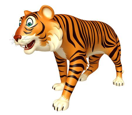 carnivora: 3d rendered illustration of funny Tiger cartoon character