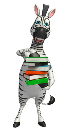 grasslands: 3d rendered illustration of Zebra cartoon character
