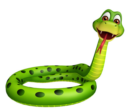 3d snake: 3d rendered illustration of sitting Snake cartoon character