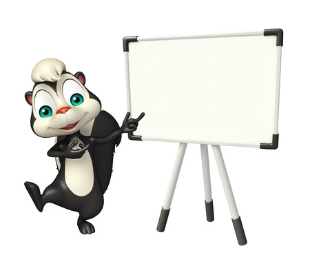 skunk: 3d rendered illustration of Skunk cartoon character