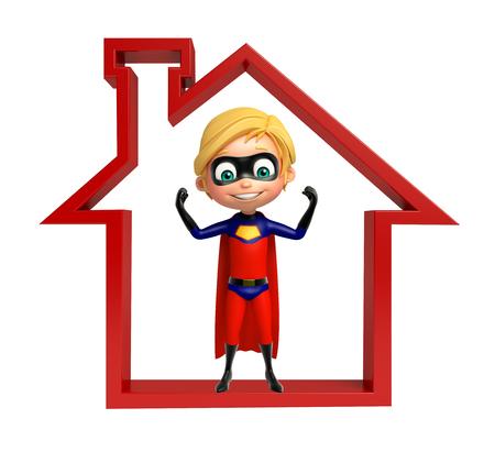 superboy: Superboy with Home  sign